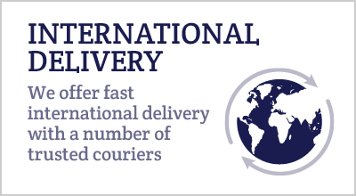 INTERNATIONAL DELIVERY We offer fast international delivery with a number of trusted couriers